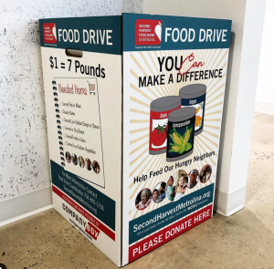 second harvest food bank food drive box