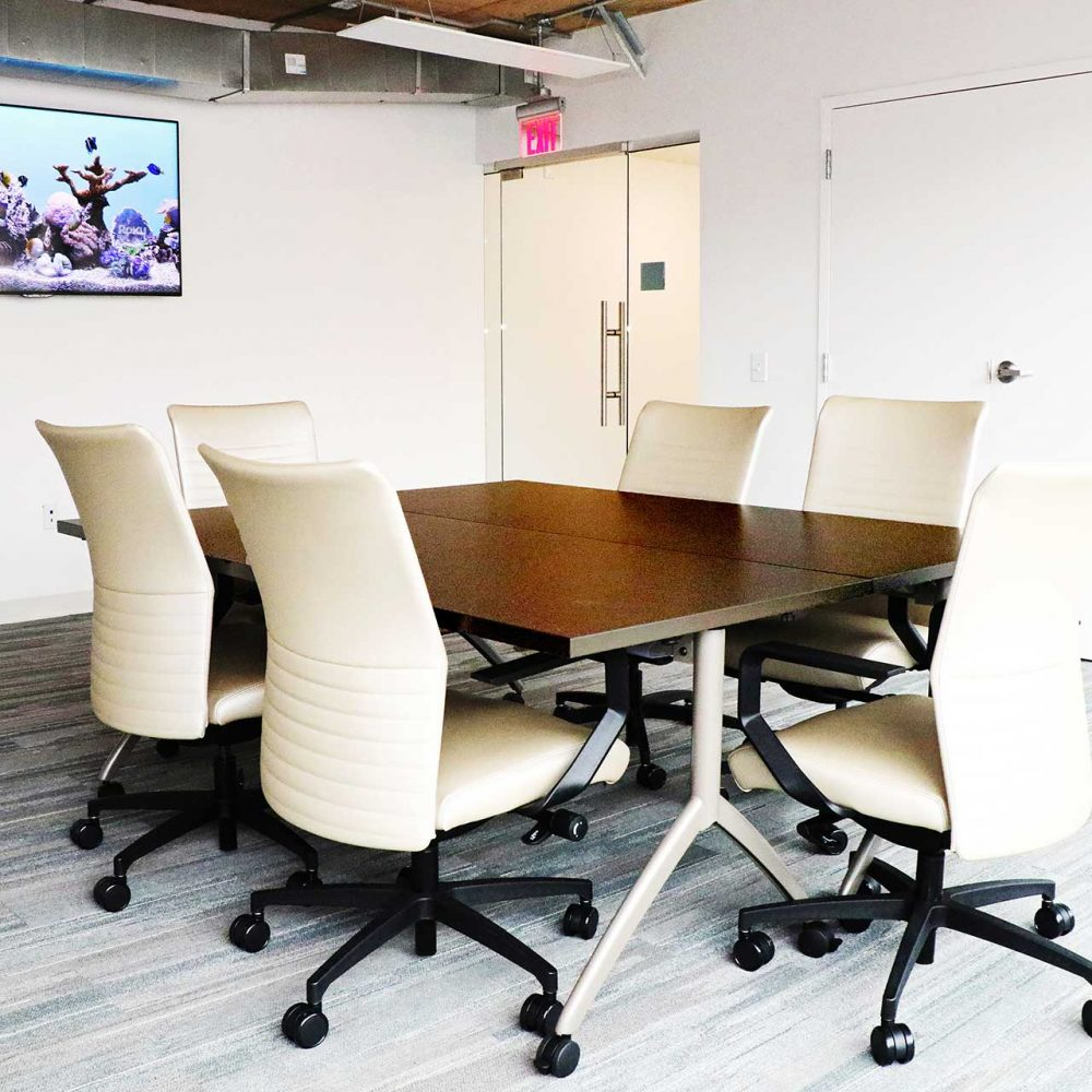 empty meeting room in a coworking space